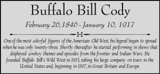 Buffalo Bill Cody Custom Laser Engraved 2 X 4 Inch Plaque