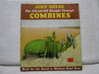 Antique 1940 John Deere Tractor Co Combines Brochure