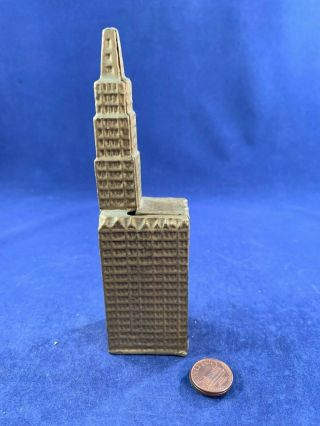 Antique Vintage Cast Iron (ci) Still Bank - Woolworth Building