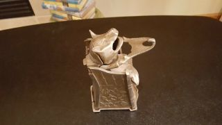 Antique Cast Iron Mechanical Bank J.  E.  Stevens Educated Pig In High Chair 1897