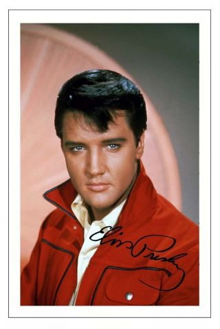 Elvis Presley Signed Photo Print Autograph The King Of Rock And Roll