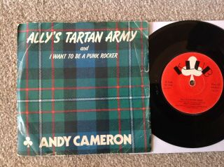"""Ultra Rare Picture Sleeve 7 """" Andy Cameron Want To Be A Punk Rocker Uk 1977"""