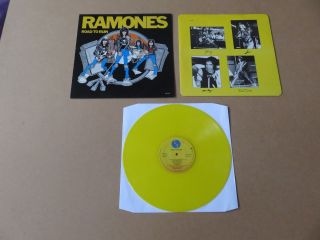 Ramones Road To Ruin Sire Records 1978 Uk 1st Pressing Yellow Vinyl Lp Srk6063