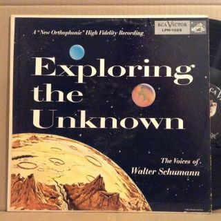 Rare Exotica Exploring The Unknown Paul Frees Walter Schumann Sci Fi Disney Lp