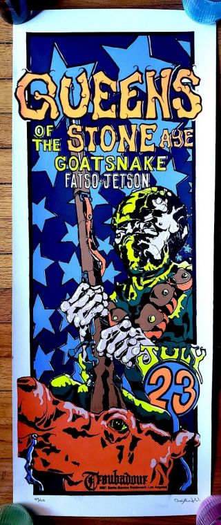 Queens Of The Stone Age,  Goatsnake,  Fatso Jetson 7 - 23 - 99 Troubador Poster Rare