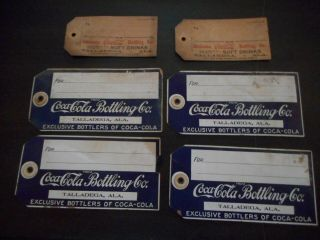 Very Old Coca Cola Bottling Co.  Case/crate Tags From Talladega Building