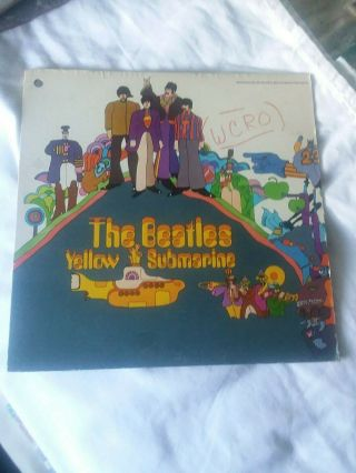 The Beatles Yellow Submarine Rare Promo Lp Punchhole Vg,