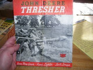 (r) Antique 1940 John Deere Thresher Sales Book
