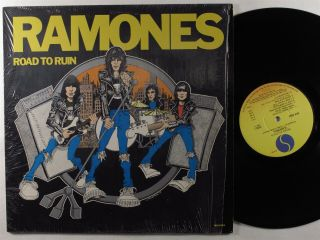 Ramones Road To Ruin Sire Lp Vg,  Shrink