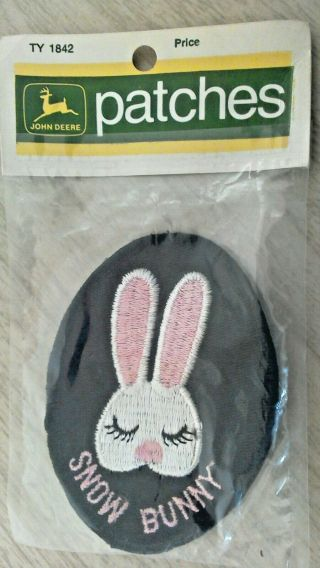 1972 John Deere Snowmobile Patch - Snow Bunny In Package