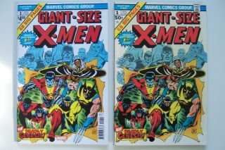Giant Size X - Men Marvel 1975 1 (also With 2019 X - Men Reprint - 2 Books)