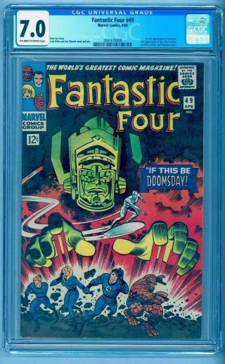 Fantastic Four 49 Cgc 7.  0 1st Galactus No Marks Or Stamps Compare To 7.  5