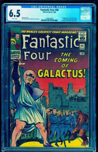 Fantastic Four 48 Cgc 6.  5 White Bright Colors No Marks Nicer Than Most 7.  0