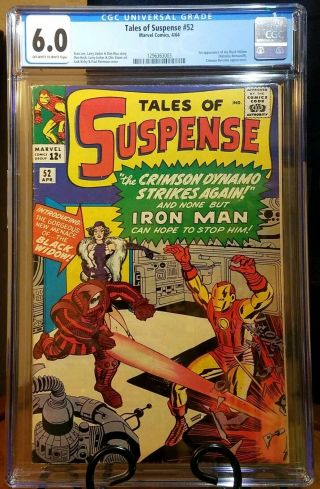 Tales Of Suspense 52 Cgc 6.  0 Off - White Black Widow No Marks Stan Lee Undergraded