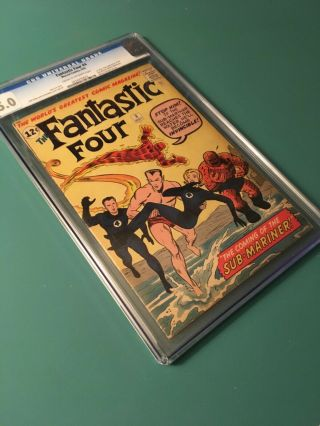 Fantastic Four 4 Cgc 5.  0 Cr/ow Pages