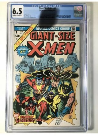 Giant Size X - Men 1 Cgc 6.  5 - Never Cleaned Nor Pressed Stan Lee Cockrum Len Wein