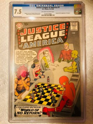 1960 Justice League Of America 1 1st Jla In Title 1st Despero Ow Cgc 7.  5
