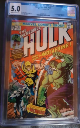 The Incredible Hulk 181 (nov 1974,  Marvel) Cgc Graded 5.  0