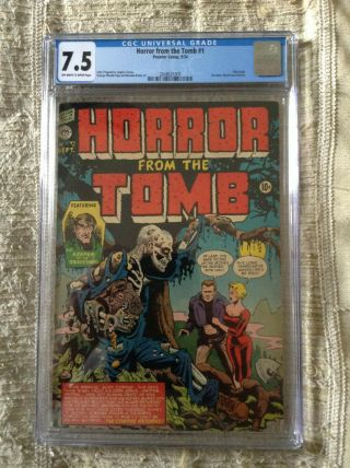 Horror From The Tomb 1 Cgc 7.  5 Pre - Code Horror Golden Age 1954 Rare