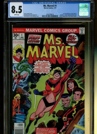 Ms.  Marvel 1 Cgc 8.  5 | Marvel 1977 | 1st Carol Danvers As Ms.  Marvel.