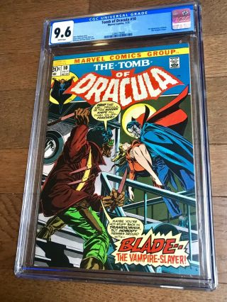Tomb Of Dracula 10 Cgc 9.  6 White Pages.  1st Appearance Of Blade.  Tod 10