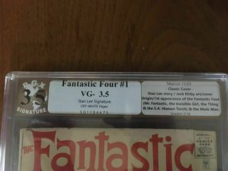 Fantastic Four 1 Pgx 3.  5 Stan Lee Signature Series