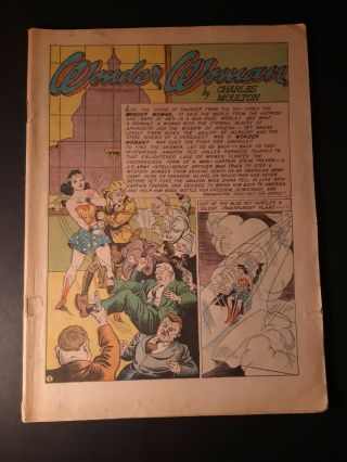 Sensation Comics 1 Jan 1942 Wonder Woman - No Cover - Ungraded