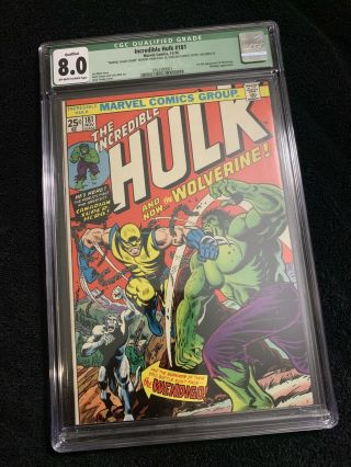 The Incredible Hulk 181 Cgc 8.  0 Qualified
