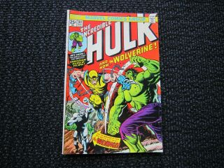 The Incredible Hulk 181 - 1st Wolverine - With Stamp