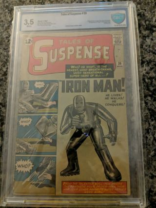 Tales Of Suspense 39 Cgc/cbcs 3.  5 White Pages,  1st App Of Iron Man,  Key Issue
