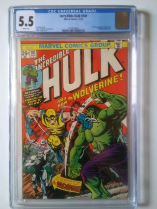 The Incredible Hulk 181 5.  5 CGC Marvel Bronze age comic Book 1st Wolverine 3