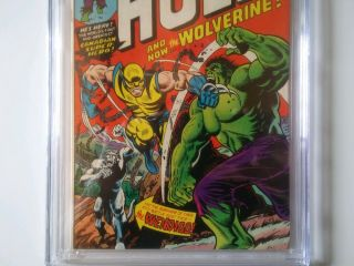 The Incredible Hulk 181 5.  5 CGC Marvel Bronze age comic Book 1st Wolverine 5