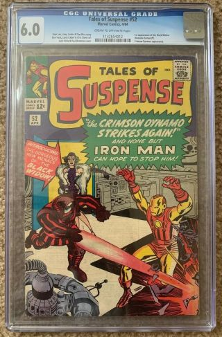 Tales Of Suspense 52 Cgc 6.  0 1st Black Widow Appearance