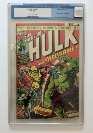 The Incredible Hulk 181 Cgc 6.  0 1st Full Wolverine,  Cream To Off - White Pages