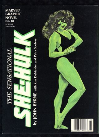 The Sensational She - Hulk 1985 Marvel Graphic Novel 18 John Byrne See Images B3