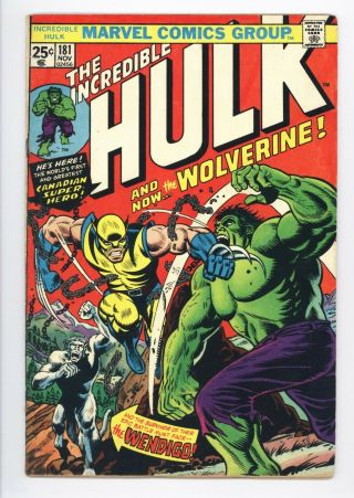 Incredible Hulk 181 Vol 1 1st Wolverine With Marvel Stamp