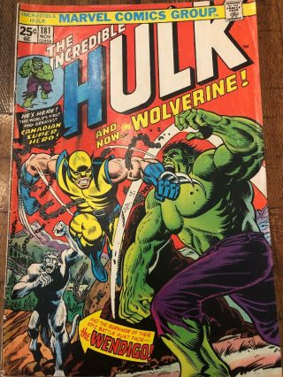 The Incredible Hulk 181 3 Day Listing Wolverine (marvel Stamp Present)