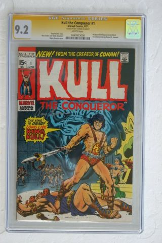 Kull The Conqueror 1 (ss Cgc 9.  2) Nm - (1049933008) Origin And 2nd App Of Kull