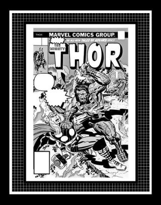 Jack Kirby Thor 252 Rare Production Art Cover Monotone