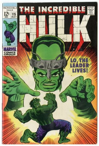 Hulk 115 Nm 9.  4 White Pages Vs.  The Leader Marvel 1969
