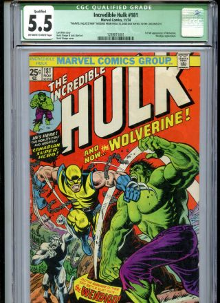 The Incredible Hulk 181 Cgc 5.  5 1st Full Appearance Of Wolverine