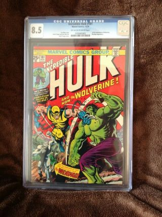 Cgc The Incredible Hulk 181 8.  5 1st Appearance Wolverine