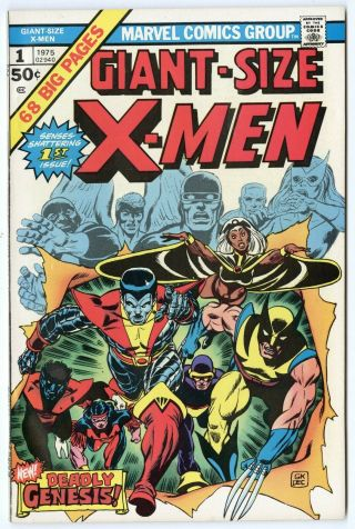 Giant - Size X - Men 1 Nm 9.  4 Ow/white Pages 1st App.  X - Men Marvel A 1975