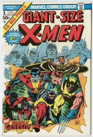 Giant - Size X - Men 1 Nm - 9.  2 White Pages 1st App.  X - Men Marvel C 1975