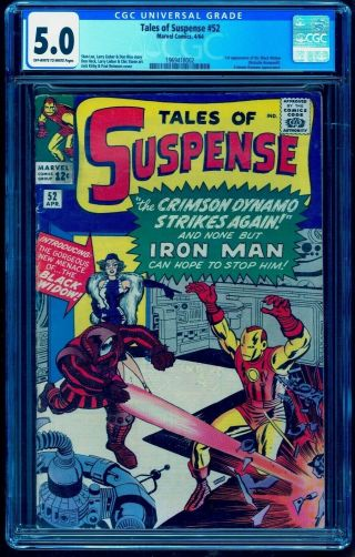 Tales Of Suspense 52 Cgc 5.  0 Oww 1st First Black Widow
