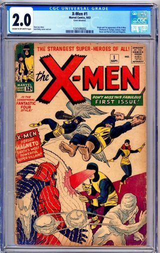 X - Men 1 - First Issue 1963 Appearance - Cgc Grade 2.  0 Key Comic Book Xmen X Men