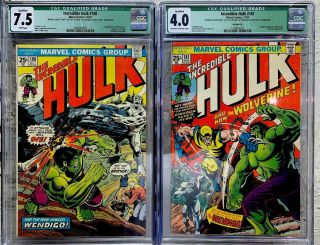 The Incredible Hulk 181 Cgc 4.  0 180 Cgc 7.  5