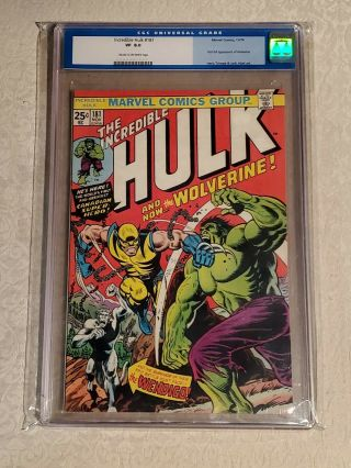 The Incredible Hulk 181 Cgc 8.  0,  Very Fine,  (marvel),  1st Wolverine,  Old Cgc Label