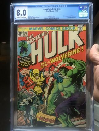Incredible Hulk 181 Cgc 8.  0 Ow/w - 1st Appearance Of Wolverine