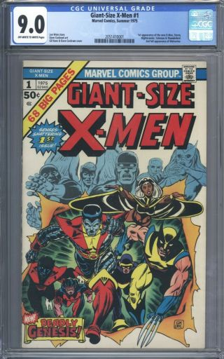 Giant Size X - Men 1 Cgc 9.  0 Looks Incredible 1st Storm Colossus Nightcrawler